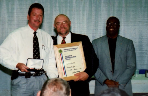 Receiving the Sheriff's Commendation Award