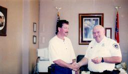 Les with Sheriff McMillan